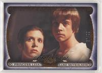 Princess Leia, Luke Skywalker #/99