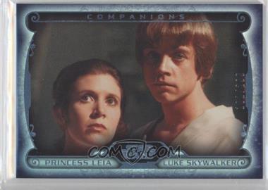 2015 Topps Star Wars Masterwork - Companions - Rainbow Foil #C-2 - Princess Leia, Luke Skywalker /299