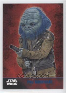 2015 Topps Star Wars: The Force Awakens Series 1 - [Base] - Lightsaber Blue #41 - Pru Sweevant