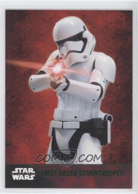 2015 Topps Star Wars: The Force Awakens Series 1 - [Base] - Lightsaber Green #7 - First Order Stormtrooper