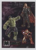 Hulk, Iron Man, Thor