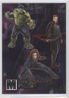 Hulk, Hawkeye, Black Widow