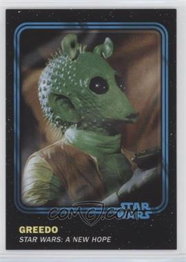 2016 Topps Star Wars Card Trader Physical Cards - [Base] - Blue #21 - Greedo