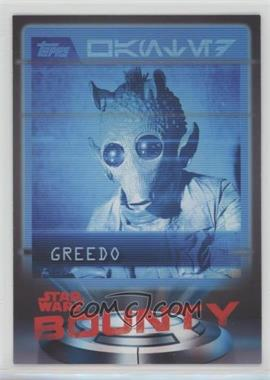 2016 Topps Star Wars Card Trader Physical Cards - Bounty #B-1 - Greedo
