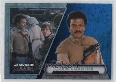 2016 Topps Star Wars Evolution - [Base] - Blue Lightsaber #66 - Lando Calrissian - Rebel General