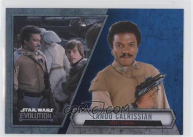 2016 Topps Star Wars Evolution - [Base] - Blue Lightsaber #66 - Lando Calrissian - Rebel General