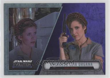 2016 Topps Star Wars Evolution - [Base] - Purple Lightsaber #38 - Princess Leia Organa - Rebel General
