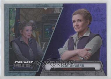 2016 Topps Star Wars Evolution - [Base] - Purple Lightsaber #39 - Leia Organa - Resistance General