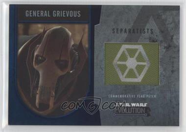 2016 Topps Star Wars Evolution - Commemorative Flag Patches - Silver #GEGR - General Grievous /50