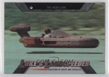 2016 Topps Star Wars Evolution - Evolution of Ships and Vehicles #EV-16 - The Rebellion - Luke's Landspeeder