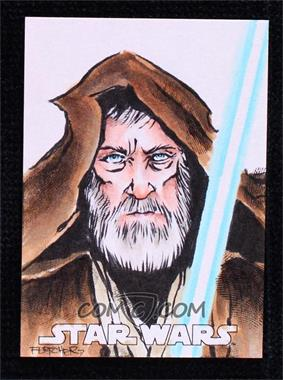 2016 Topps Star Wars Evolution - Sketch Cards #UACH - Unknown Artist (Obi Wan Kenobi) /1