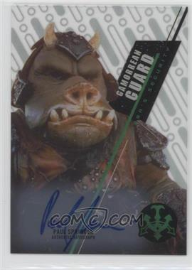 2016 Topps Star Wars High Tek - Autographs #SW-10 - Classic Saga - Paul Springer, Gamorrean Guard