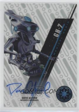 2016 Topps Star Wars High Tek - Autographs #SW-56 - Prequels - David Acord, GH-7 Medical Droid