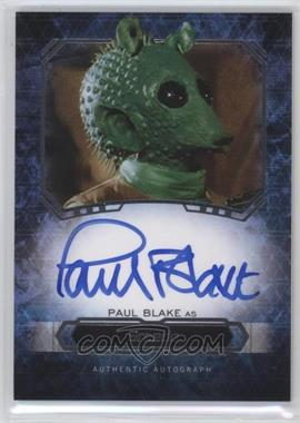 2016 Topps Star Wars Masterwork - Autographs #PABL - Paul Blake as Greedo