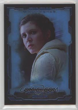2016 Topps Star Wars Masterwork - [Base] - Blue Metallic #3 - Princess Leia Organa
