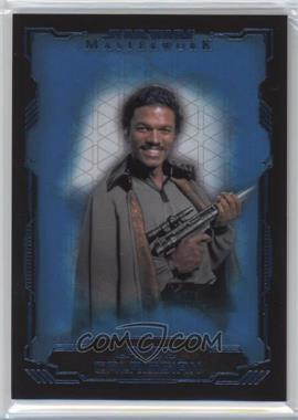 2016 Topps Star Wars Masterwork - [Base] - Blue Metallic #5 - Lando Calrissian