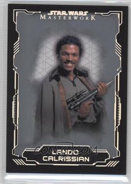 2016 Topps Star Wars Masterwork - [Base] - Silver Metallic #5 - Lando Calrissian /99