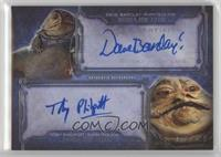 Dave Barclay and Toby Philpott as Puppeteers for Jabba The Hutt /199