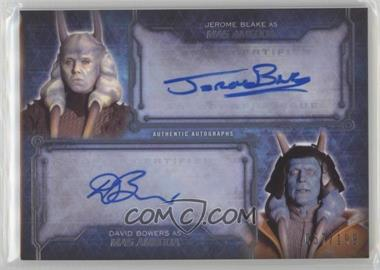 2016 Topps Star Wars Masterwork - Dual Autographs #JBDB - Jerome Blake and David Bowers as Mas Amedda /199