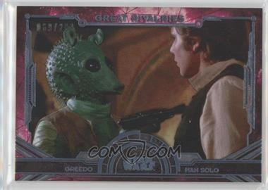 2016 Topps Star Wars Masterwork - Great Rivalries - Rainbow Foil #GR-4 - Greedo, Han Solo /299