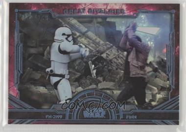2016 Topps Star Wars Masterwork - Great Rivalries - Rainbow Foil #GR-8 - Finn, FN-2199 /299