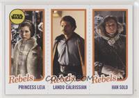 Princess Leia Organa, Lando Calrissian, Han Solo #/989