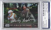 Rey & BB-8 in the Forest [PSA/DNACertifiedEncased] #/99