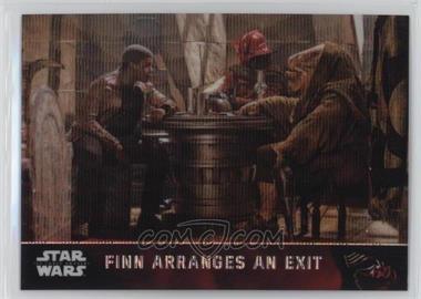2016 Topps Star Wars: The Force Awakens Chrome - [Base] - Retail Wave Refractor #52 - Finn Arranges An Exit