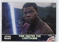 Finn Ignites the Lightsaber