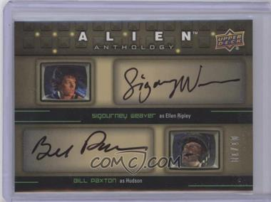 2016 Upper Deck Alien Anthology - Quad Auto Achievement #QA-WPDP - Sigourney Weaver, Bill Paxton, Charles S. Dutton, Ron Perlman /10