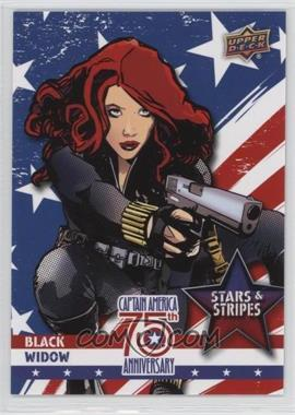 2016 Upper Deck Captain America 75th Anniversary - Stars and Stripes #SS-30 - Black Widow