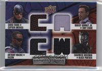 Captain America, Black Panther, Falcon, Tony Stark