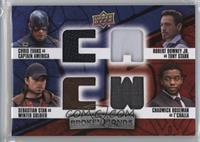Captain America, Winter Soldier, Tony Stark, T'Challa