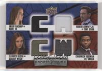 Agent 13, Scarlet Witch, T'Challa, Tony Stark