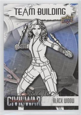 2016 Upper Deck Captain America: Civil War - Team Building #BT-10 - Black Widow