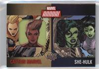 Captain Marvel, She-Hulk