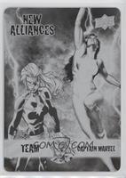 Team Captain Marvel - She-Hulk, Captain Marvel #1/1