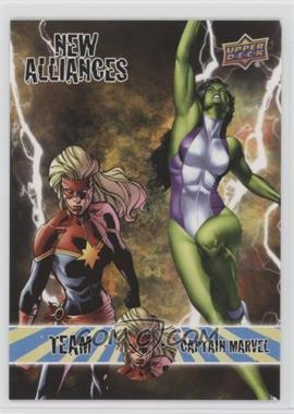 2016 Upper Deck Marvel Annual - New Alliances #NA-1 - Team Captain Marvel - She-Hulk, Captain Marvel