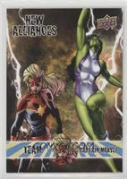 Team Captain Marvel - She-Hulk, Captain Marvel