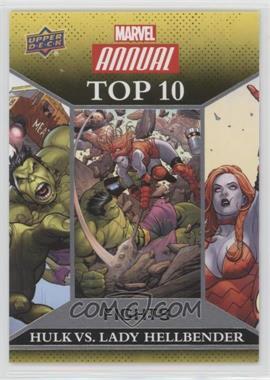 2016 Upper Deck Marvel Annual - Top 10 Fights #TF-3 - Hulk, Lady