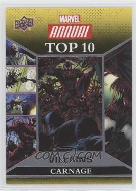 2016 Upper Deck Marvel Annual - Top 10 Villains #TV-10 - Carnage