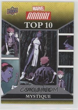 2016 Upper Deck Marvel Annual - Top 10 Villains #TV-3 - Mystique