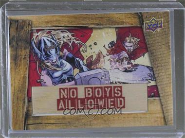 2016 Upper Deck Marvel Gems - No Boys Allowed #NBA-2 - Thor vs Thor