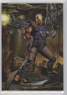 2016 Upper Deck Marvel Masterpieces - [Base] - Gold Foil Signature Series #71 - Level 3 - Cable