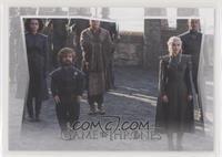 Missandei, Tyrion Lannister, Lord Varys, Daenerys Targaryen, Grey Worm