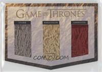 Lannister, Baratheon, Stark