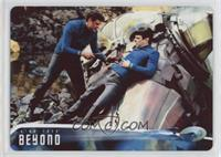 Spock and McCoy land their alien... #/100