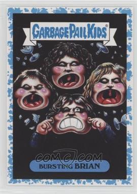 2017 Topps Garbage Pail Kids Battle of the Bands - Classic Rock Sticker - Spit #18b - Bursting Brian /99