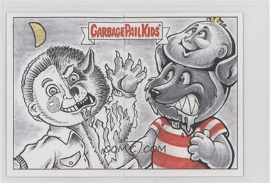 2017 Topps Garbage Pail Kids Battle of the Bands - Double Artist Panoramic Sketch Cards #BNJM - Barry Nygma, JM Monserrat /1
