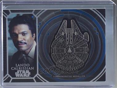 2017 Topps Star Wars 40th Anniversary - Medallion Manufactured Relics - Blue #MMC-8 - Lando Calrissian /40